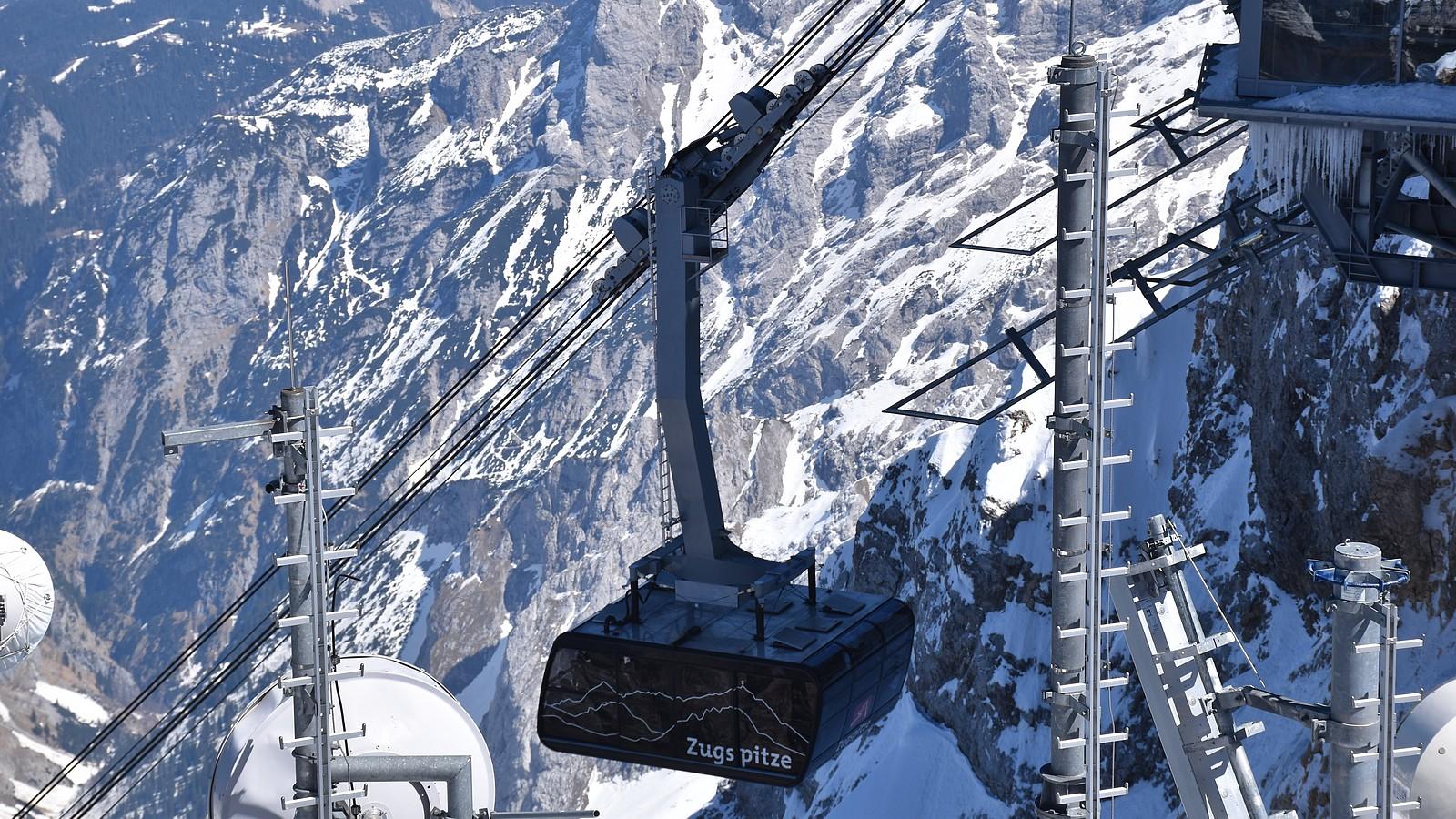 Seilbahn auf der Zugspitze