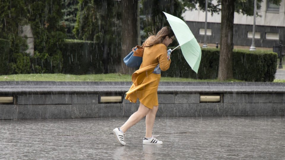 Regen und Sturm