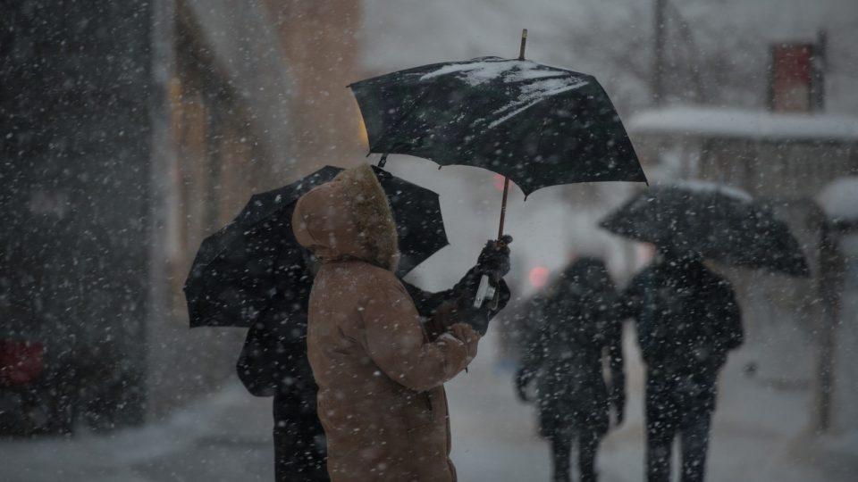 Sturm und Schnee