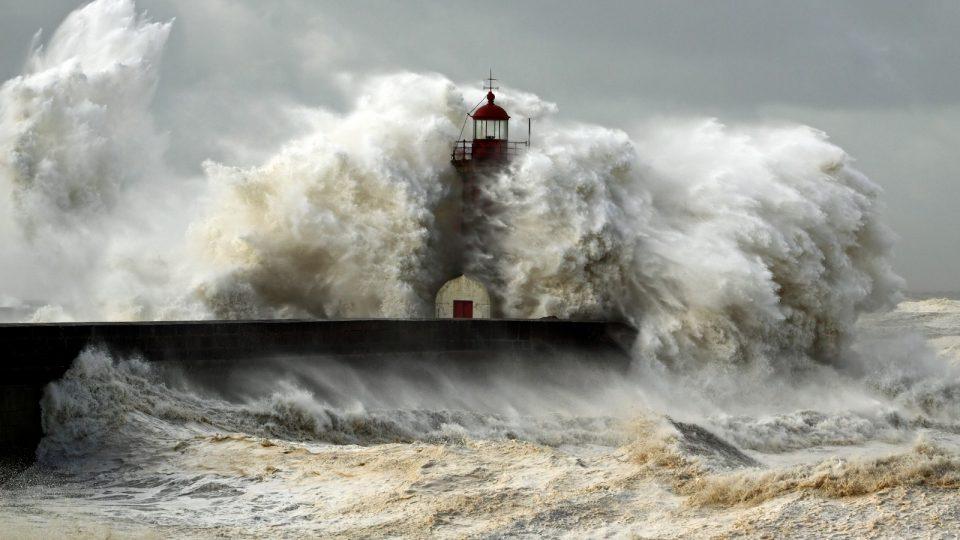 Sturm an der Küste