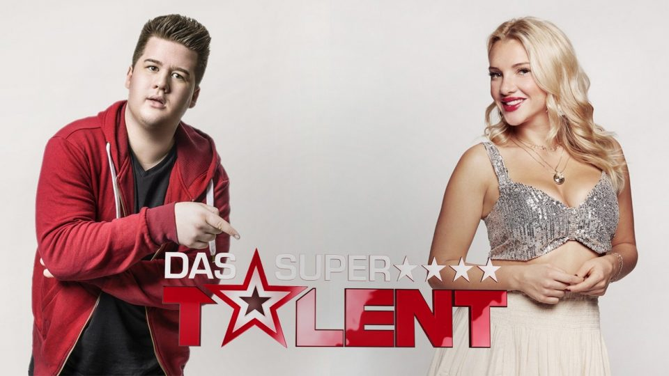 "Chris Tall und Evelyn Burdecki bei ""Das Supertalent"""