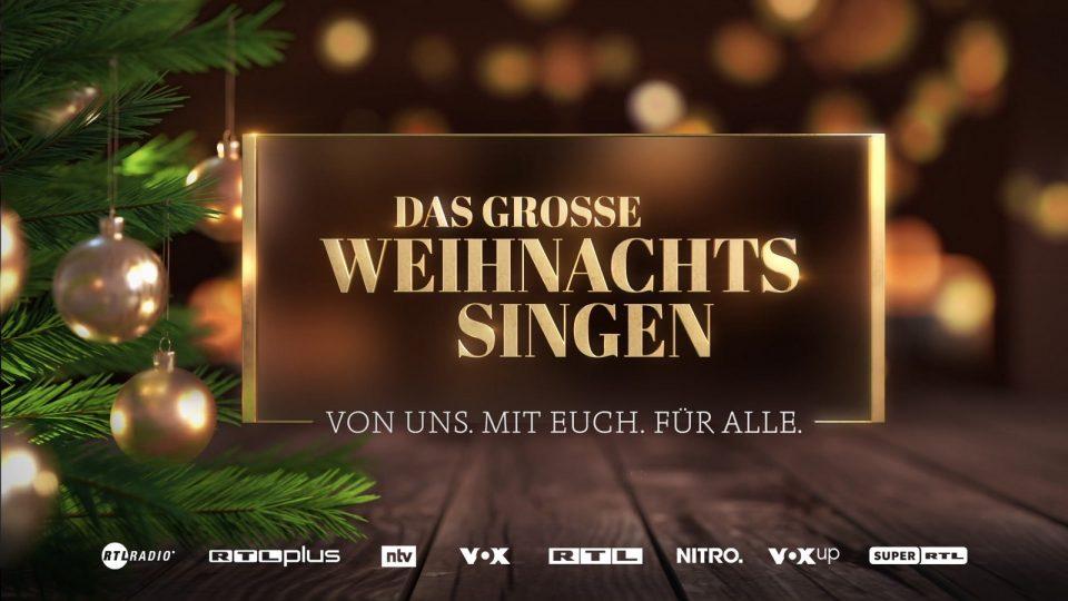 Das Weihnachtssingen bei RTL