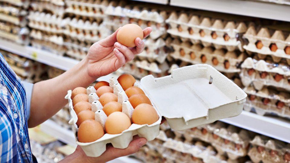 Eier im Supermarkt